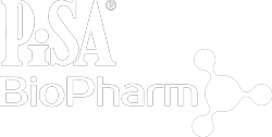 white pisa biopharm logo - Contact